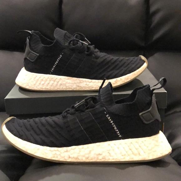 5f5b127d6a5 Adidas NMD R2 primeknit black gum
